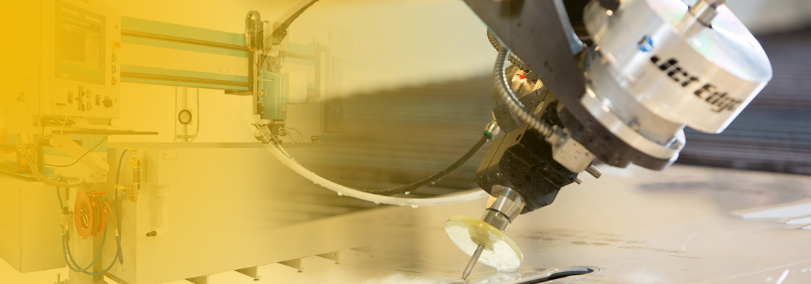 5-axis water jet cutting services in JACQUET Midwest